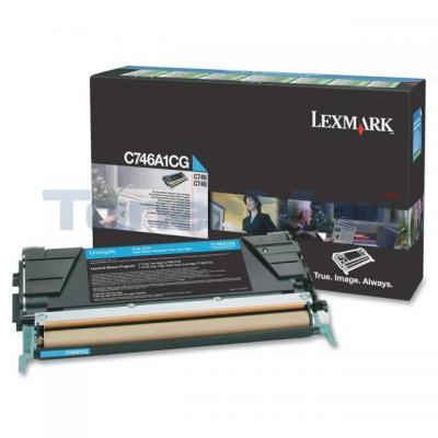 LEXMARK C746 TONER CARTRIDGE CYAN RP